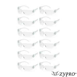 12 Pair Pack Safety Glasses Protective Eyewear Clear Lens Work Uv Z87