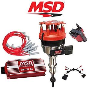 Msd Ignition Kit Digital 6a Distributor Wires Coil Harness 86 93 Ford Mustang