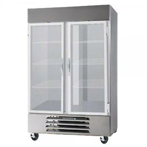 Beverage Air Hbrf49hc 1 g Glass Door 2 Section Reach in Freezer Refrigerator