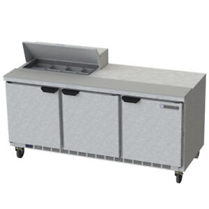 Beverage Air Spe72hc 08 72 Refrigerated Sandwich Salad Prep Table