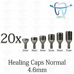20 Healing Cap Normal 4 6mm For Dental Instruments Internal Hex Free Shipping