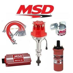Msd Ignition Kit Digital 6a distributor wires coil Ford 351c m 400 429 460