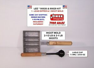 LEE 90029 & 90026 LEE PRECISION LEAD DIPPER LADLE and 90029 LEE INGOT MOLD KIT