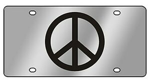 New Peace Sign Novelty License Plate