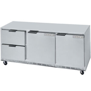 Beverage Air Ucrd72ahc 2 72 Undercounter Reach in Refrigerator W Drawers