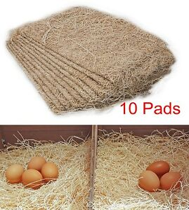 Straw Pads Poultry Nesting Liners Bedding Chicken Coop Hen Duck Laying Eggs