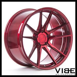 20 Rohana Rf2 Red Forged Concave Wheels Rims Fits Audi C7 A6