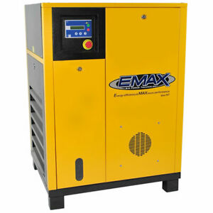 EMAX 10-HP  Tankless Variable Speed Drive Rotary Screw Air Compressor (20823...