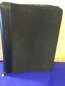Franklin Covey Planner Classic Nylon With Leather Trim