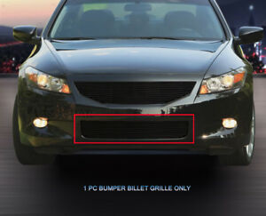 Fits 2008 2009 2010 Honda Accord Coupe Black Billet Grille Grill Bumper