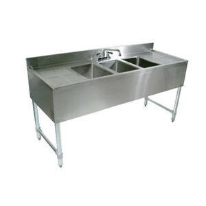 John Boos Eub4s84 2d Underbar Four Compartment Sink W Two 19 Drainboards