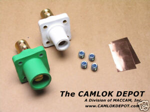 Camlok 2 4 0 Male Female White Panel Mount Pair Kit