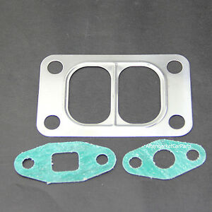 T3 Divided Inlet Intake Turbo Gasket Twin Scroll Stainless Steel Gaskets 4 Bolts