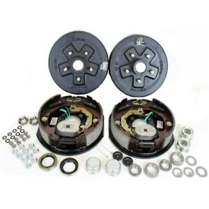 Southwest Wheel 3 500 Lbs Trailer Axle Electric Brake Kit 5 4 5 Bolt Circle
