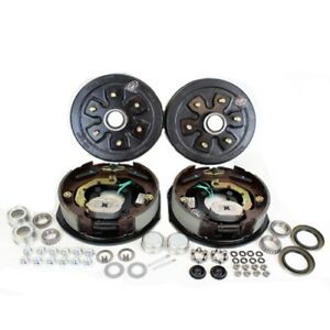 Southwest Wheel 3 500 Lbs Trailer Axle Electric Brake Kit 6 5 5 Bolt Circle