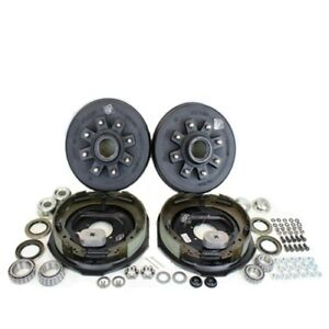 8 On 6 5 Trailer Hub Drum Kit W 12x2 Electric Brakes For 7 000 Trailer Axle