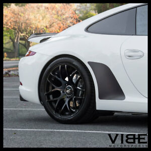 19 Avant Garde Ruger Mesh Forged Black Wheels Rims Fits Porsche 997 911 Turbo