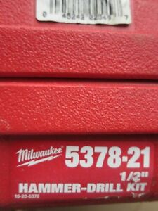Used Milwaukee 1 2 Hammer Drill Kit model 5378 21 Good Working Unit W case