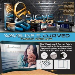 10ft Waveline S Curved Trade Show Display With Carry Case