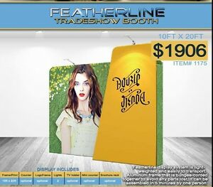 Featherline Fabric Trade Show Display With Carry Case Model 1175