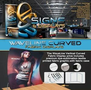 10ft Waveline Curved Vertical Trade Show Display With Carry Case