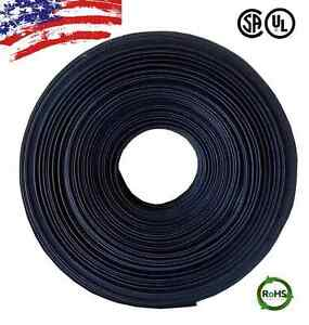 20 Ft 20 Feet Black 1 2 13mm Polyolefin 2 1 Heat Shrink Tubing Tube Cable Ul