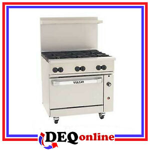 Vulcan 36c 6b Endurance 36 Gas Restaurant Range 6 Burners Ng Or Lp