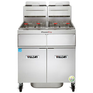 Vulcan 2tr45af Multiple Battery Gas Floor Fryer 45 50 Lb vat ng Or Lp