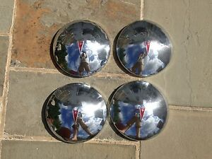 Set Of 4 70 72 Pontiac Firebird 10 1 2 Dog Dish Hubcaps Hub Caps Oem