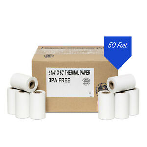 2 1 4 X 50 Thermal Paper 100 Rolls First Data Fd400 Credit Card Terminal