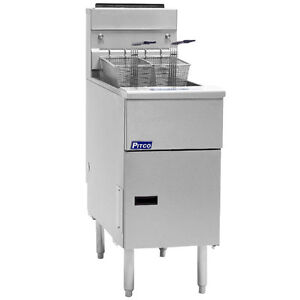 Pitco Sg18s Solstice Gas Floor Model Tube Fryer 70 90 Lb Capacity