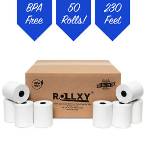 3 1 8 X 230 Thermal Receipt Paper Rolls Case Of 50 Pos Cash Register Bpa Free