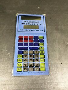 The Educator Scientific Calculator Vintage For Overhead Projector Teaching