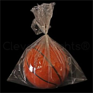 1000 Pack 18 x24 Clear Poly Bags 2 Mil Open Flat Plastic Bag Food Safe