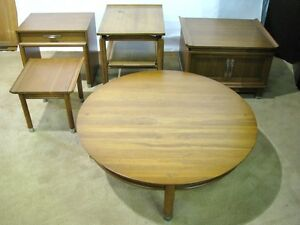 Five Pieces Willett Solid Cherry Trans East Mid Century Modern Tables