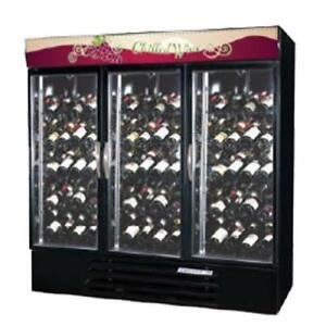 Beverage Air Mmrr72hc 1 ss wine 2 Section Dual Temp Glass Door Refrigerator