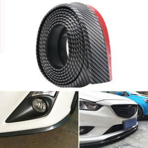 100 Carbon Fiber Front Bumper Lip Splitter Chin Spoiler Body Kit Trim
