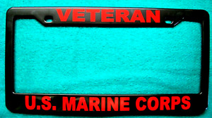 License Plate Frame Polished Abs Veteran U S Marine Corps 8613r