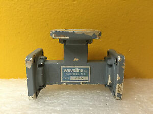 Waveline 785 wr 62 12 4 To 18 Ghz Cover Flanges H plane Waveguide Tee