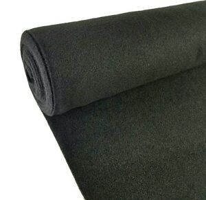 5 Yards Black Upholstery Durable Un Backed Automotive Trim Carpet 40 X15 Ft Roll