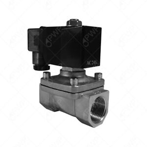 12v 1 2 Npt Normally Closed Stainless Steel Viton 2 way Solenoid Valve