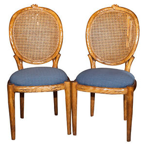 Pair Of French Louis Xiv Style Caned Side Chairs 101 2166