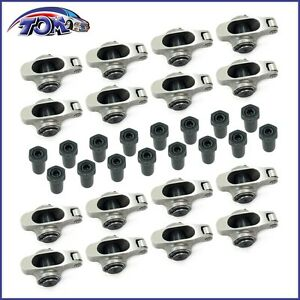 New Small Block Chevy 1 5 3 8 Stainless Steel Roller Rocker Arms Sbc 305 350 400