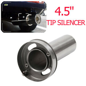 4 5 Adjustable Round Tip Silencer Exhaust Muffler Adjustable Removable Silencer