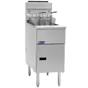 Pitco Sg14 ss Solstice Gas Floor Model Stainless Steel 40 50 Lb Capacity