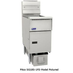 Pitco Sg18s 2fd Multi battery Gas Fryer W Filter Two 70 90 Lb Capacity Tanks