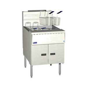 Pitco Sgm24 Megafry Gas Floor Model Fryer 140 150 Lb Oil Capacity