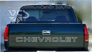 Chevy Tailgate Letter Decal Sticker For Trucks 90 98 Metallic Silver
