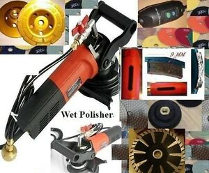 Wet Polisher Grinder Convex Blade Cup Core Drill Bit Concrete Sander Pad Granite