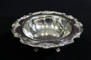Vintage Reed Barton King Francis Footed Silverplated Round Centerpiece Bowl